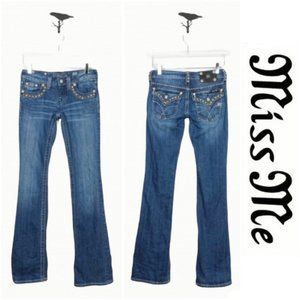 Miss Me Embellished Boot Cut Jeans Size 25